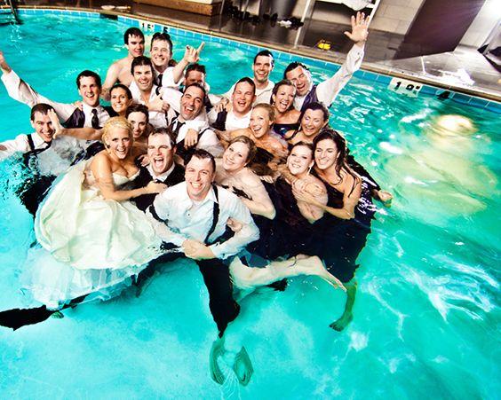 Весілля у басейну - для шанувальників розкоші
