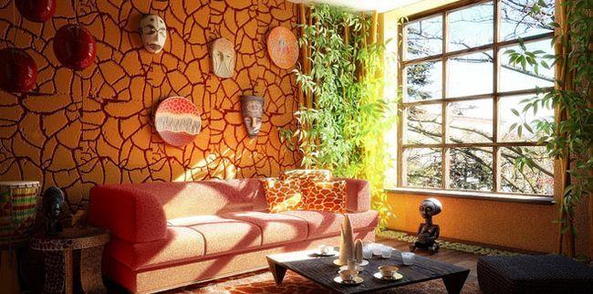Африканський стиль в інтер`єрі квартири