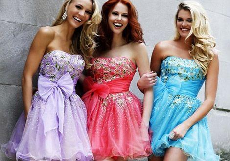 Блискучі випускні сукні