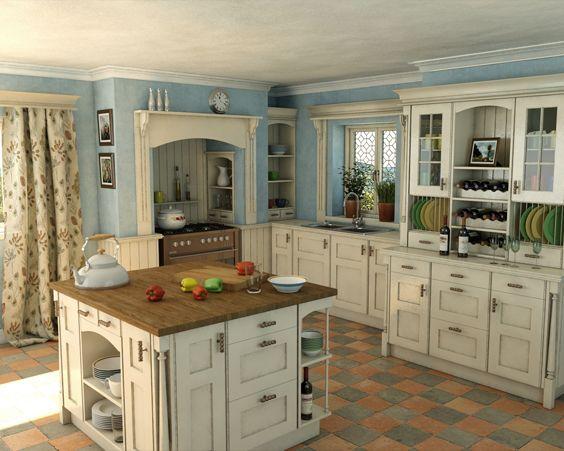 Кухня в англійському стилі виглядає стримано і витончено