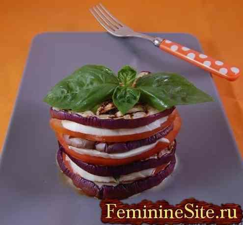 Баклажани з помідорами рецепт з фото.