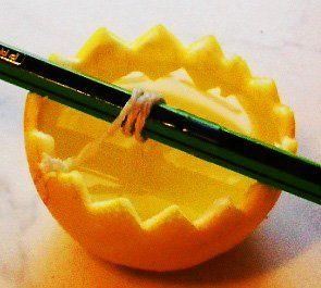 аромасвічки своїми руками в апельсинової шкірці