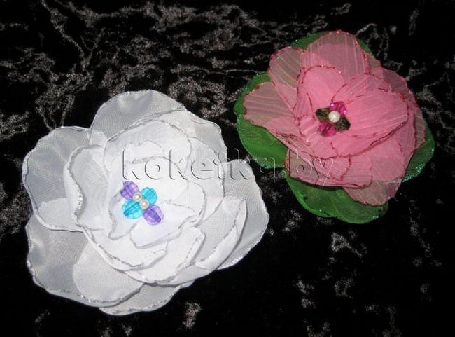 Робимо квіти з тканини для штор. Майстер клас