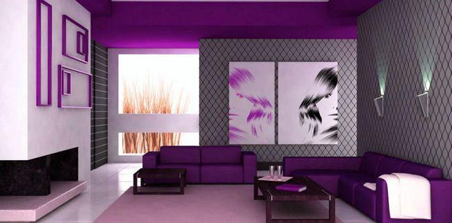 Фіолетові відтінки в інтер`єрі квартири
