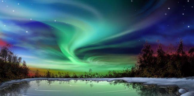 Небесне шоу - північне сяйво