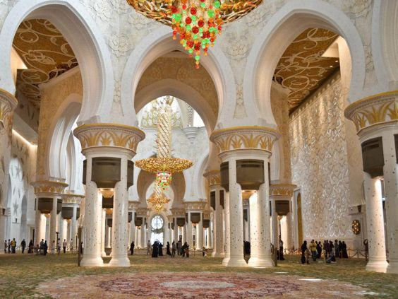 Велика мечеть шейха Зайда всередині