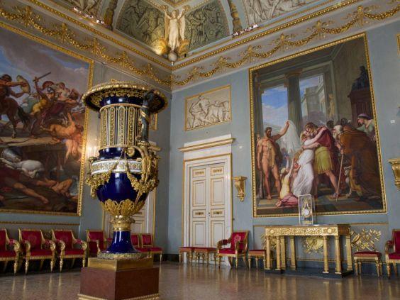 Палаццо Пітті. Інтер`єр Палатинской галереї