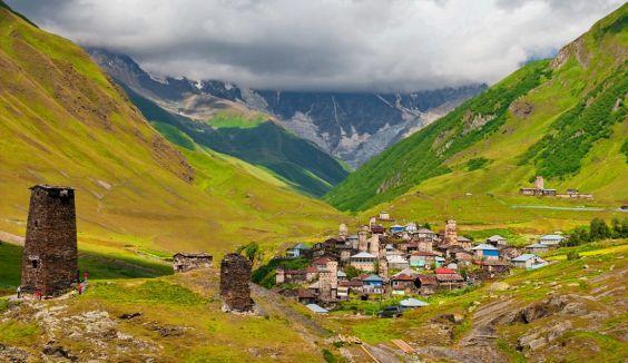 Область Верхня Сванетія. село Ушгулі