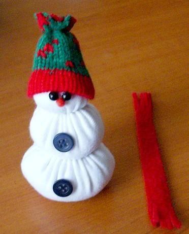 сніговик своїми руками
