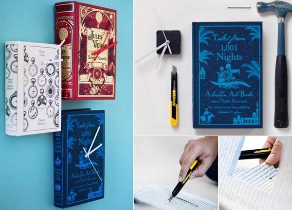 Робимо своїми руками оригінальний годинник для любителів книг