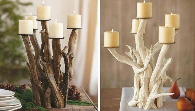 як зробити свічник і бра з гілок своїми руками просто і швидко