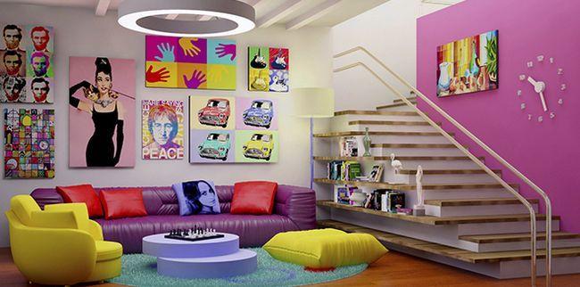 Інтер`єр в стилі поп-арт для будинку