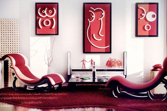 Червоний колір в інтер`єрі - психологічні та естетичні особливості відтінків