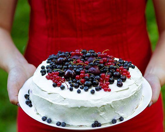 Солодкий ягідний пиріг з білим шоколадом